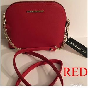 Authentic Steve Madden BMAGGIE Red Crossbody